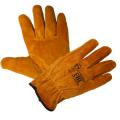 Перчатки желтые цельноспилковые Драйвер